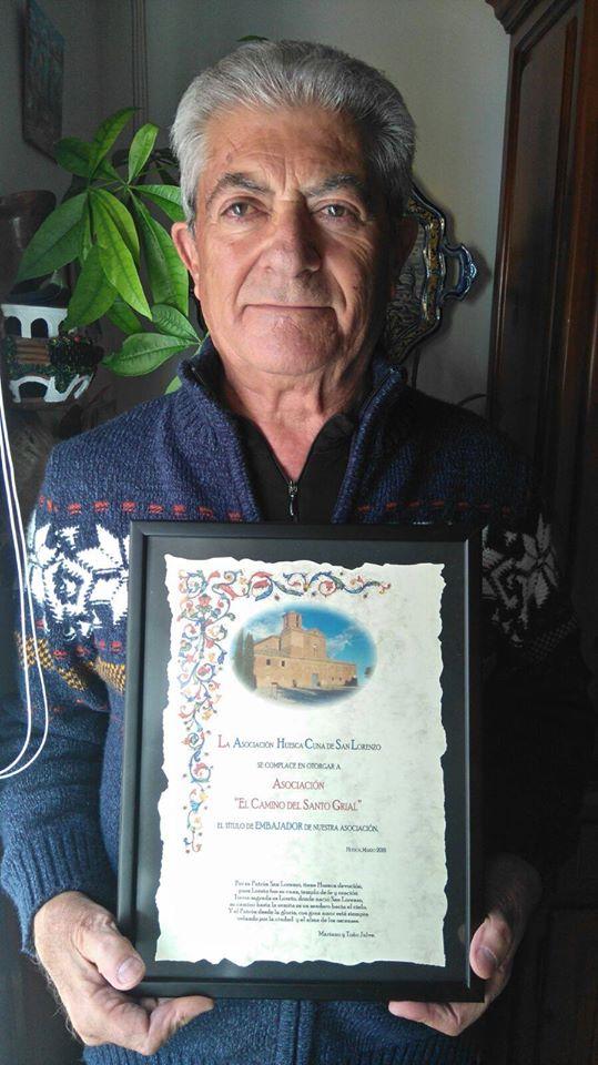 Embajadores de la Asociación Huesca Cuna de San Lorenzo